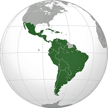 Latinamerika Mellem Og Sydamerika Hele Verden I Skole