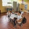 De er kun 4 elever på Thalianas skole. Thaliana er den eneste pige. – Foto: Andreas Beck