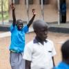 Esther er glad for skolen. Her glemmer hun de grimme minder fra flugten. - Foto: Emmanual Museruka