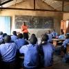 Skoleinspektøren fra Prellahs skole, hjalp hende tilbage i skole. Før havde hun svært ved at koncentrere sig. Nu gør hun alt for at klare sig godt i skolen. - Foto: Heidi Brehm