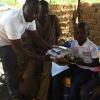 Zemba kørte fra Ougadougou til Teïdos landsby oppe nordpå med alle postkortene Foto: Sanou Saidou