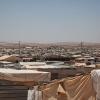 Containerhuse i Za'atari. Nogle af tagene er lavet af presseninger, for at holde huset tæt. Foto: William Vest-Lillesøe