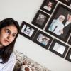 Familien betyder meget for Shahed. De har mange billeder af familiemedlemmer hængende på væggen. Foto: William Vest-Lillesøe