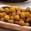 Falafler laves af kikærter og steges i olie. - Foto: William Vest-Lillesøe