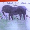 En elev har tegnet denne flotte elefant på en skole tæt ved Juba  Foto: Irene Frederiksson