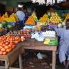 Frugt og grønt på markedet i Aweil - foto: William Vest-Lillesøe