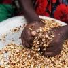 Ngor og Chans tante Rebecca sælger peanuts - Foto: William Vest-Lillesøe