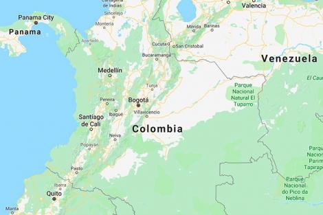 Kort Over Colombia Hele Verden I Skole