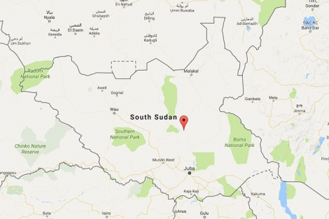 Kort Over Sydsudan Hele Verden I Skole
